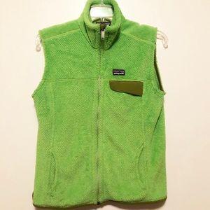 Patagonia Women's Lime Green Zip Fleece Vest Med